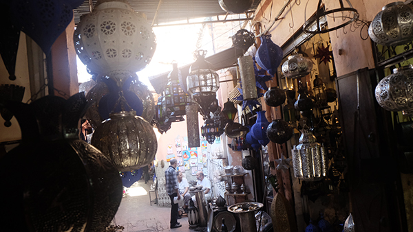 Souk, medinan, Marrakech